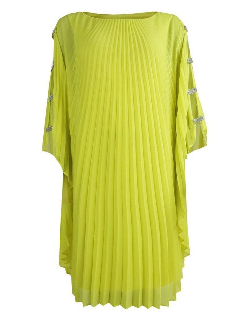 Frank Lyman Batwing Sleeve Pleated Dress, Citrine, Style 208226