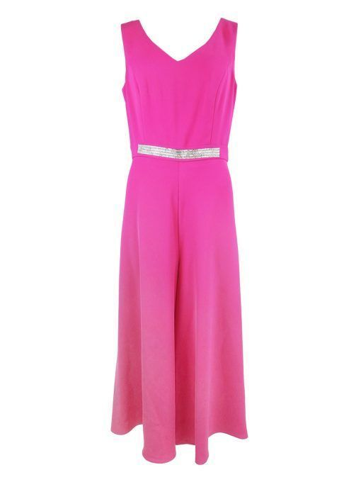 Frank Lyman Diamante Jumpsuit, Pink, Style 208286
