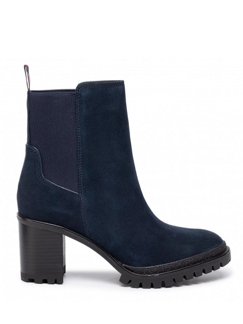 Tommy Hilfiger Midnight Sporty Mid Heel Chelsea Boots