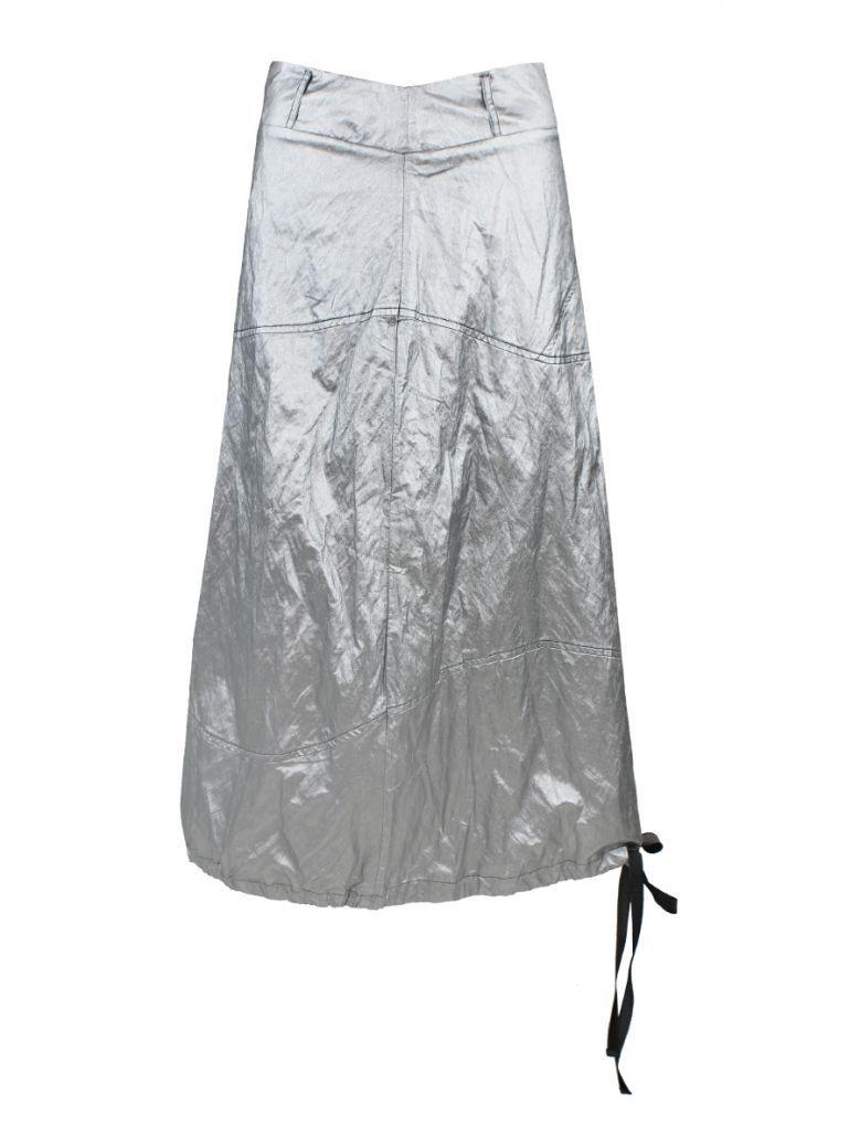 Ozai N Ku Silver Metallic Skirt