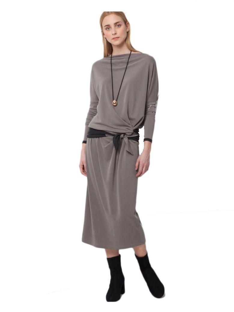Ozai N Ku Grey Midi Dress
