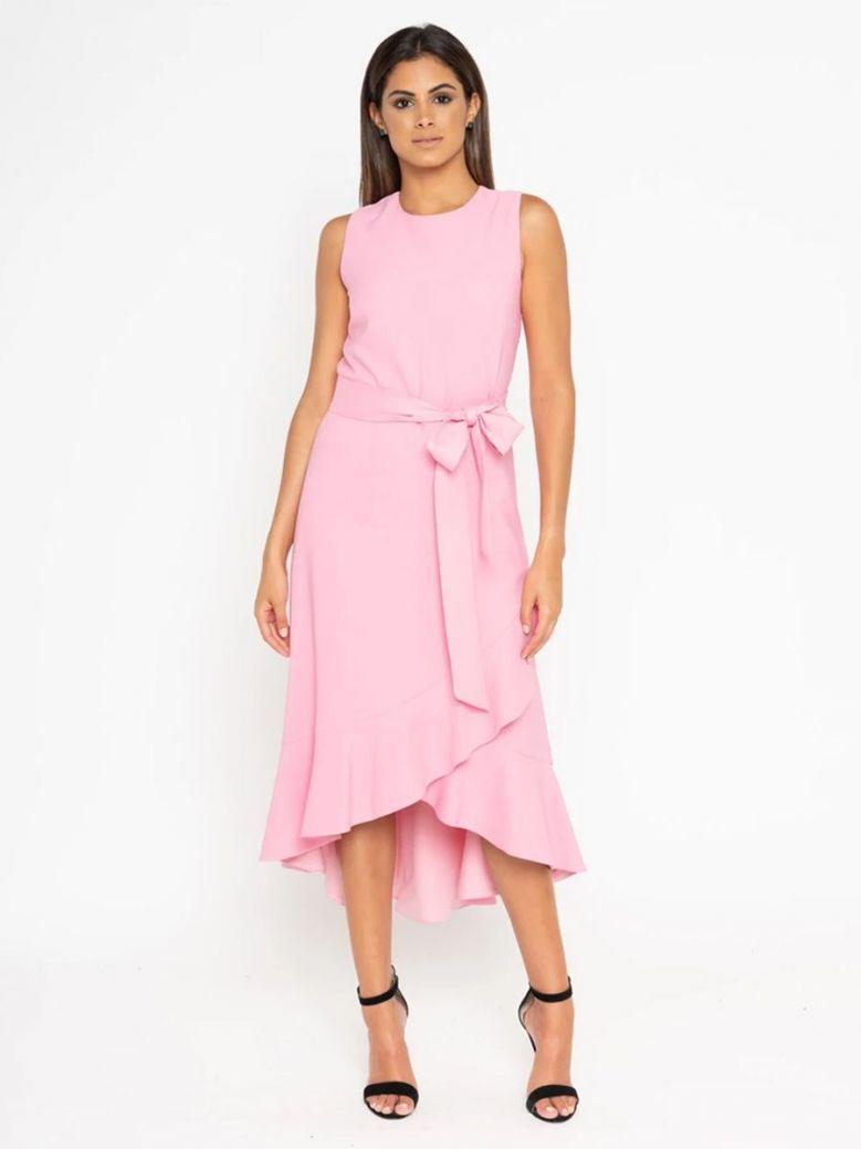 GG London Sleeveless Midi Dress Pink