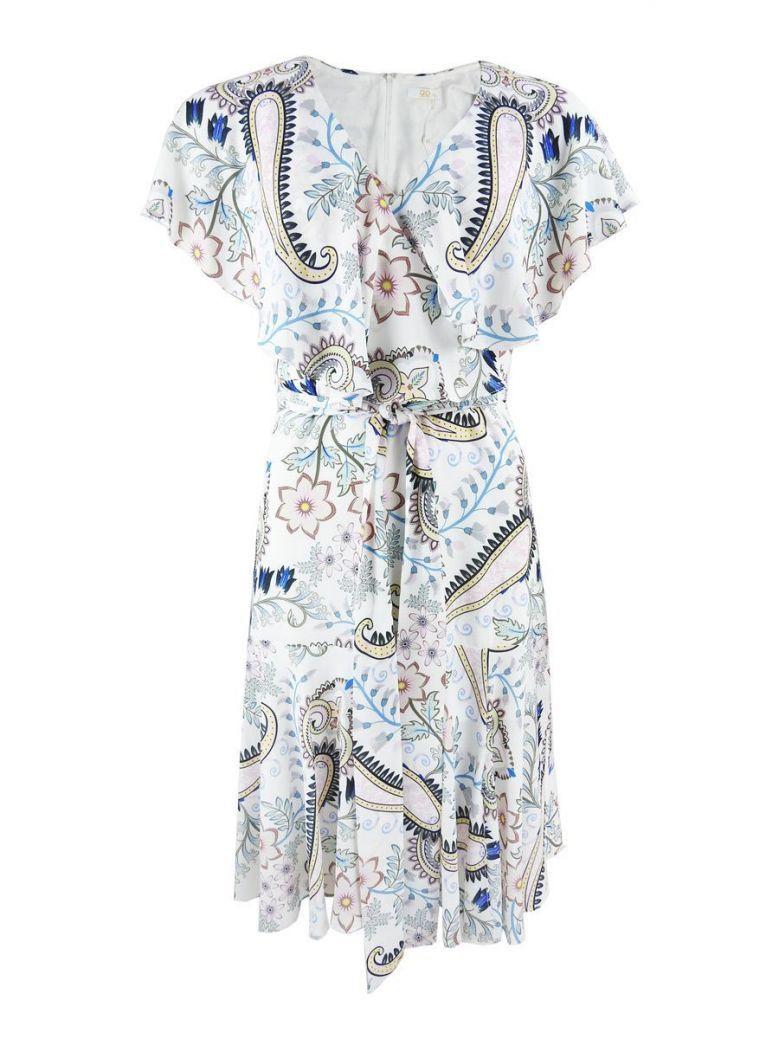 GG London Floral Print Wrap Dress White