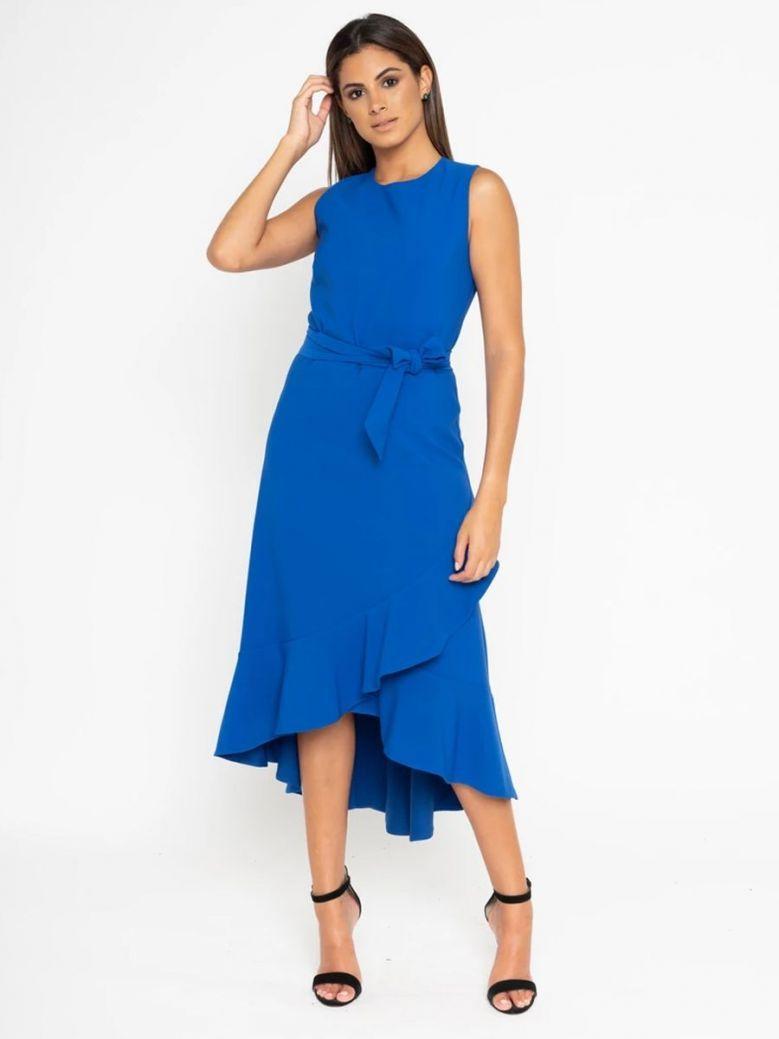 GG London Sleeveless Midi Dress Cobalt Blue