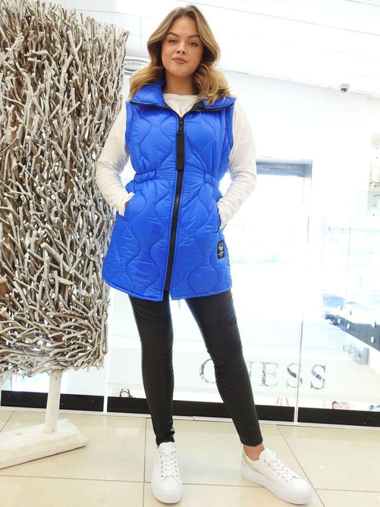 Cilento Woman Cobalt Blue Mid Length Gilet