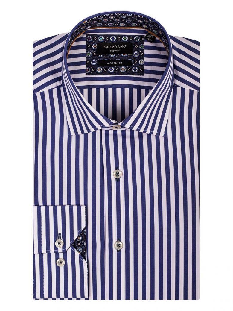 Giordano Modern Fit Blue Stripe Shirt