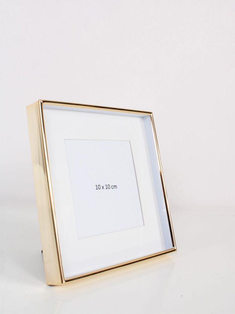 Gold Recessed Square Photo Frame 4x4