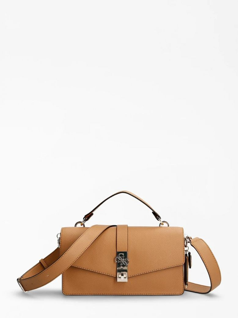 Guess Albury Handbag Charm Caramel