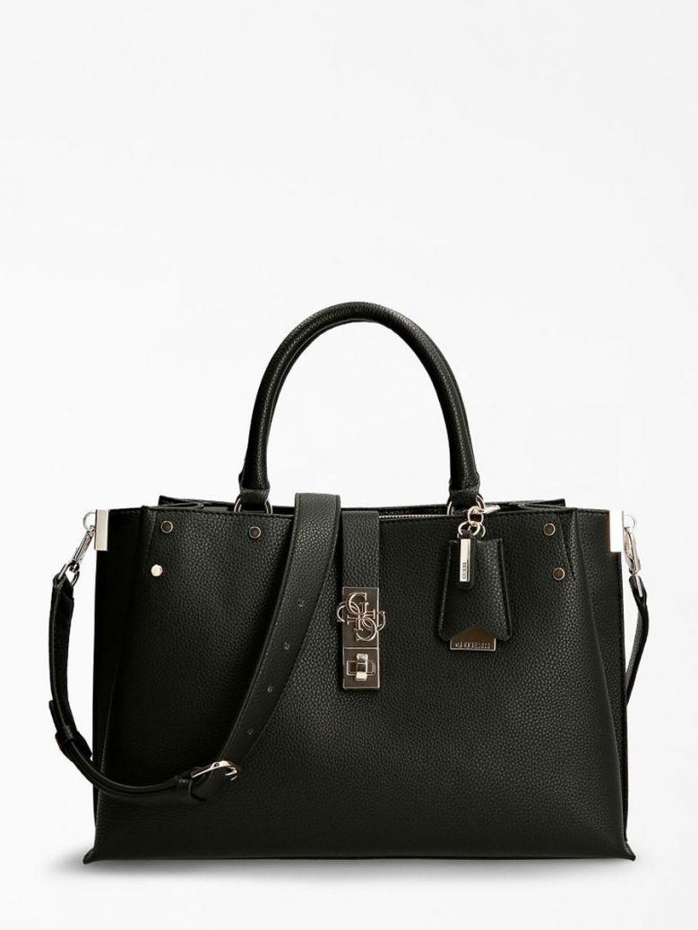 Guess Albury Maxi Handbag Charm Black