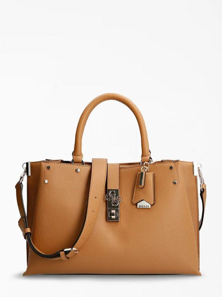 Guess Albury Maxi Handbag Charm Caramel
