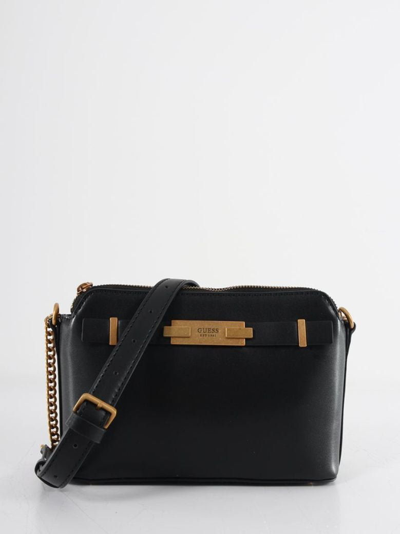 Guess Bea Double Zip Crossbody Bag Black