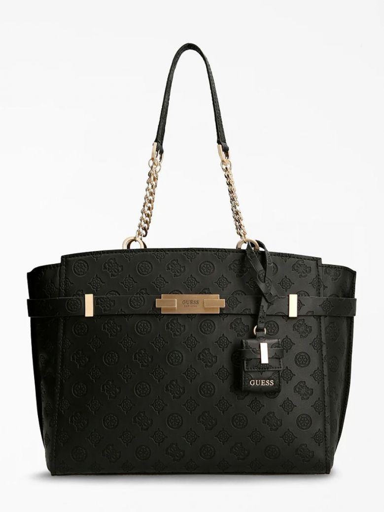 Guess Bea Embossed Logo Shopper Black