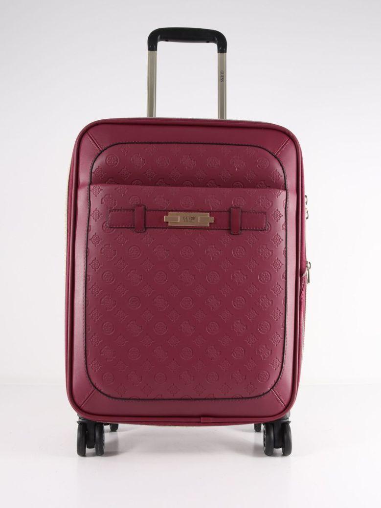 Guess Bea Embossed Logo Suitcase Plum
