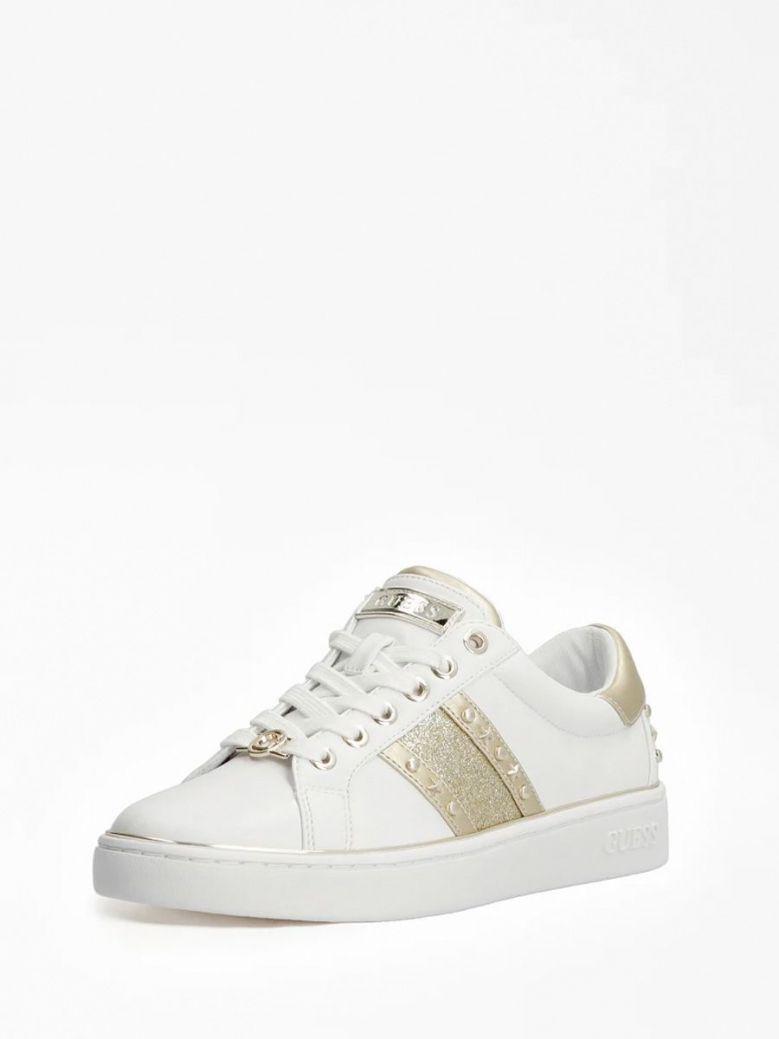 Guess Bevlee Glitter Insert Sneakers White