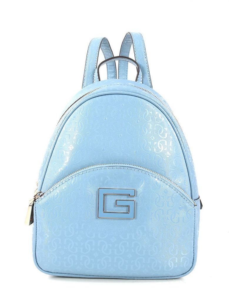 Guess Blane 4G Logo Patent Backpack Blue
