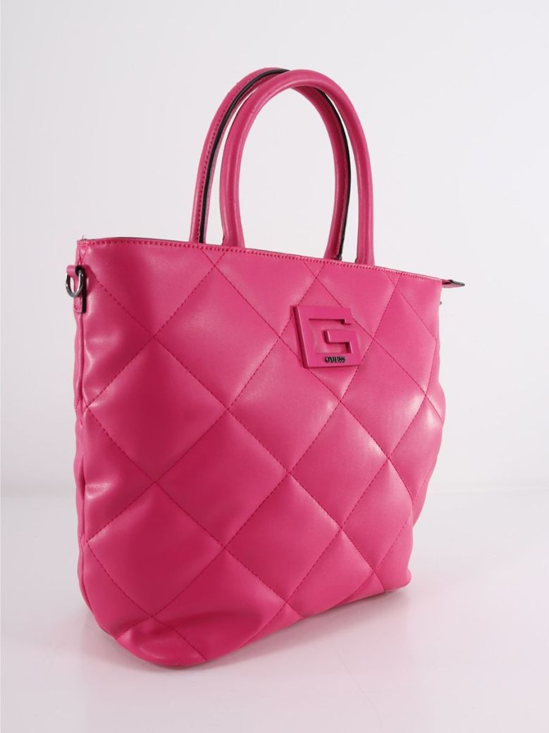 Guess Brightside Quilted Shopper Pink