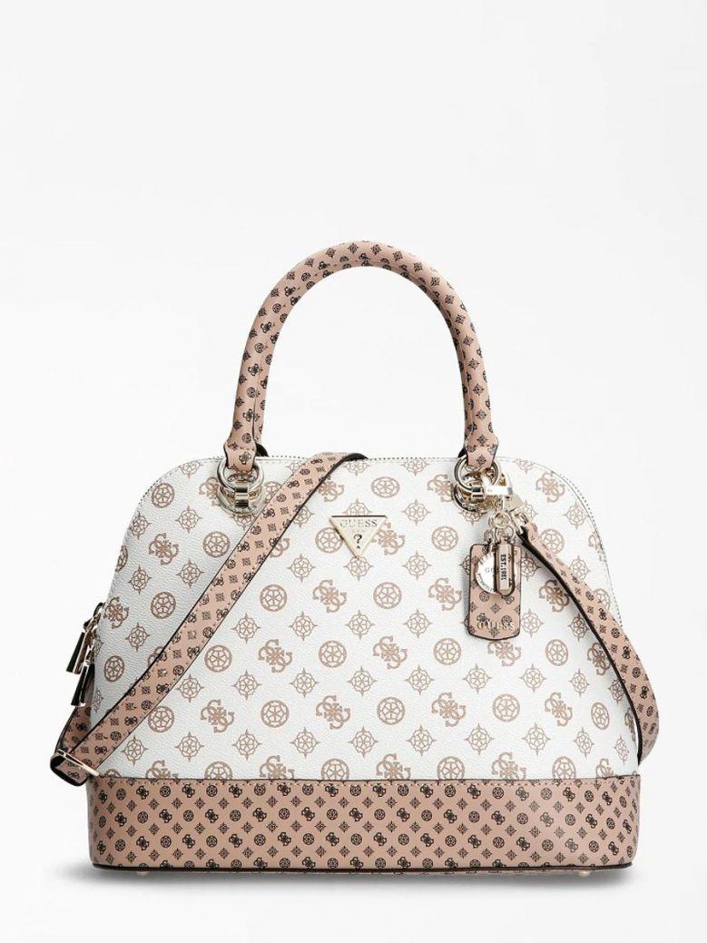 Guess Cessily Logo Handbag White Multi