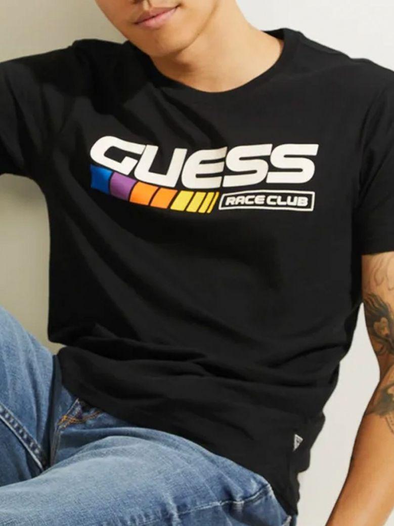 Guess Club Front Logo T-Shirt Navy