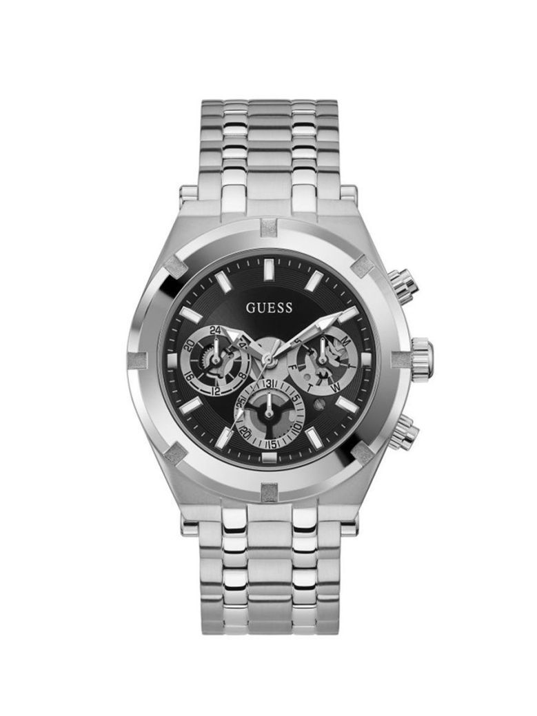 Guess Continental Gents Watch Gw0260G1 Silver