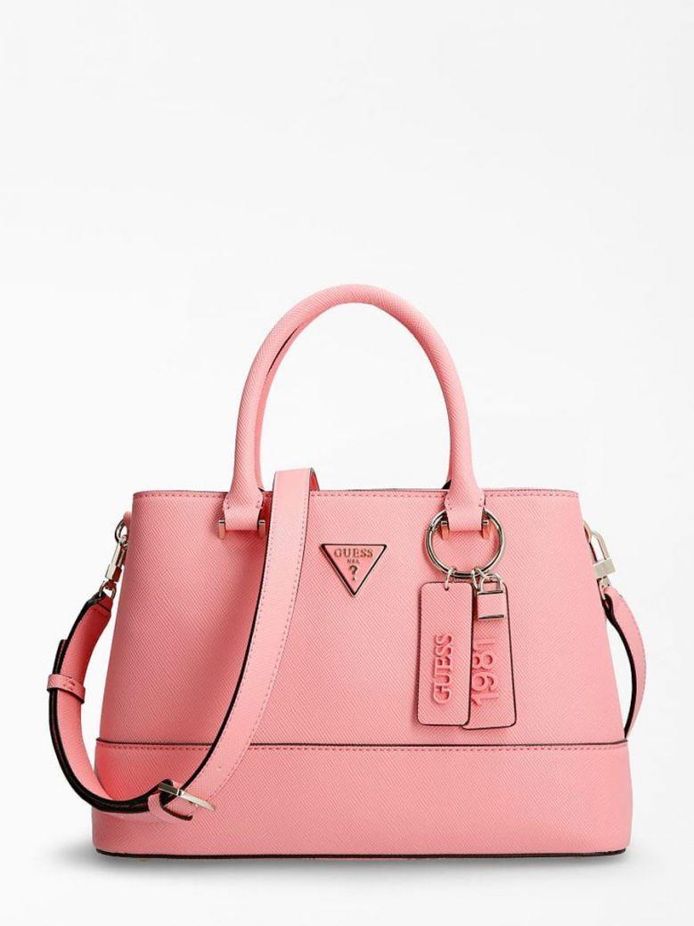 Guess Cordelia Saffiano Handbag Pink