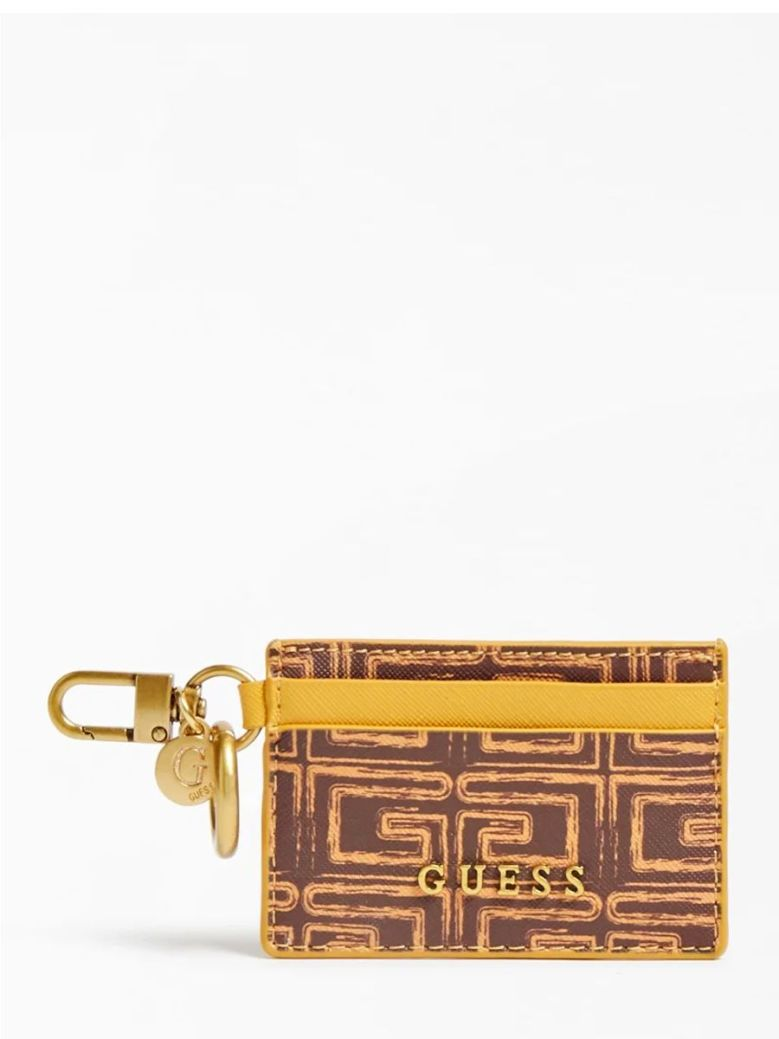 Guess Credit Card Case and Keyring Small Brown