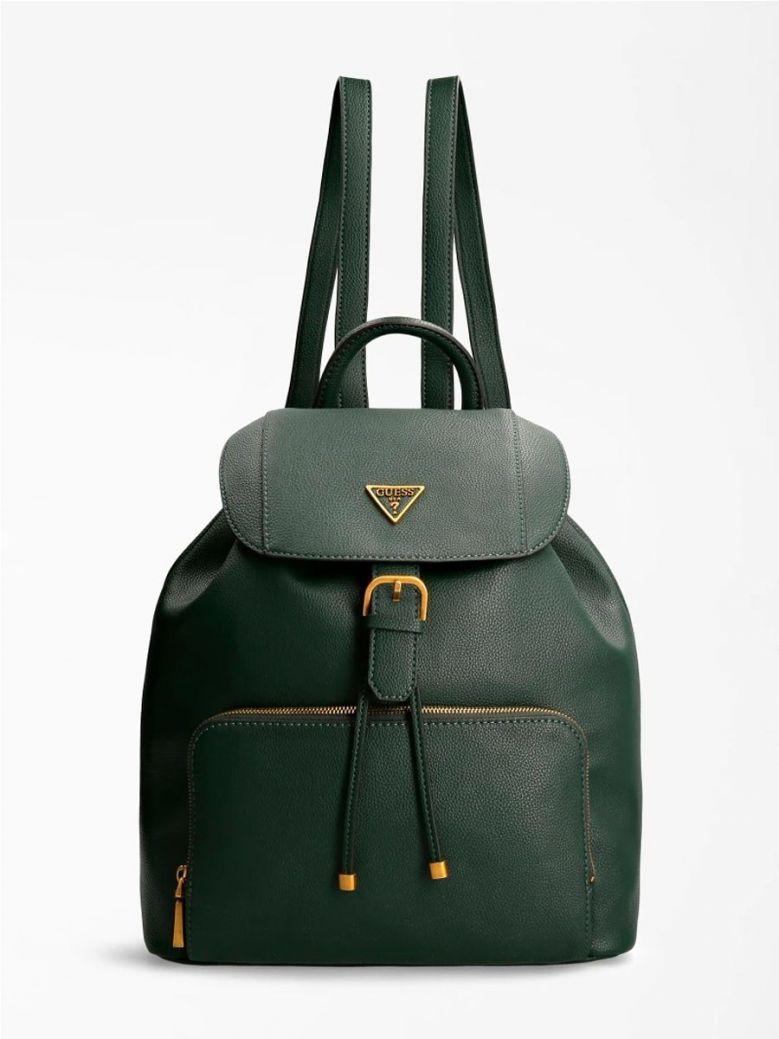 Guess Destiny Front Pocket Backpack Forest Green