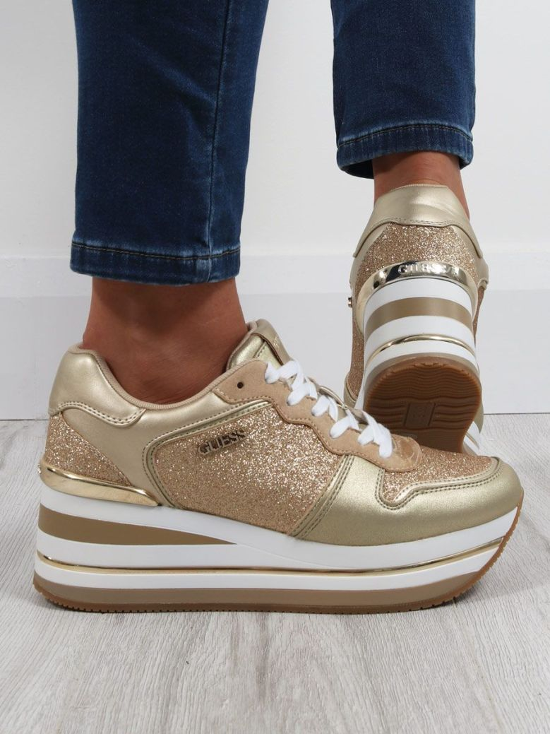 Guess Hektore Sparkle Running Shoes Gold