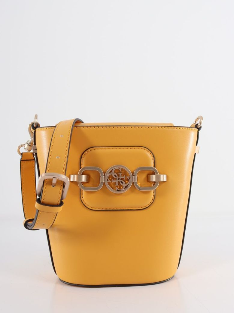 Guess Hensely Bucket Bag Yellow