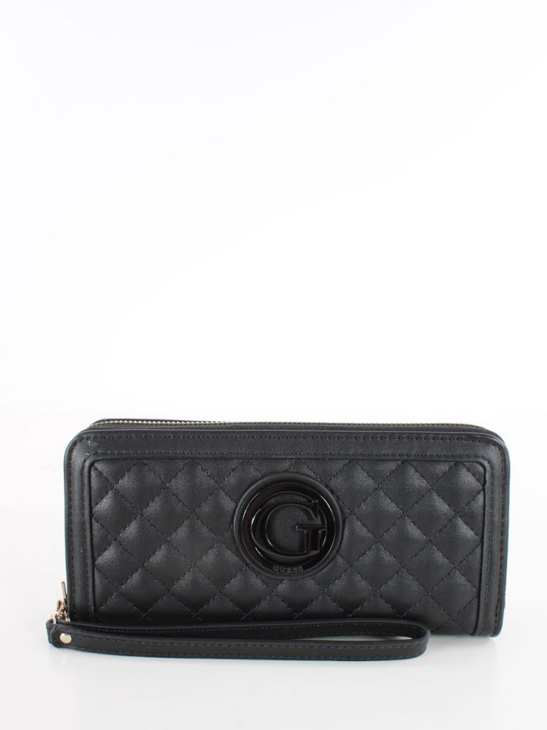 Guess Heyden Quilted Maxi Wallet Black