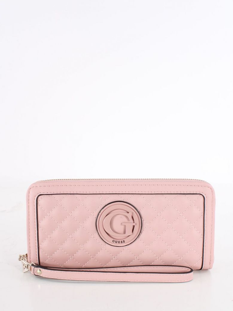Guess Heyden Quilted Maxi Wallet Pink