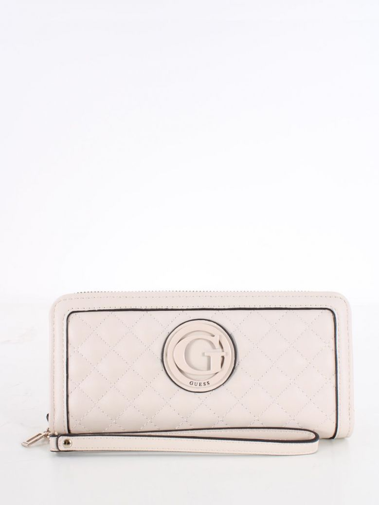Guess Heyden Quilted Maxi Wallet Stone
