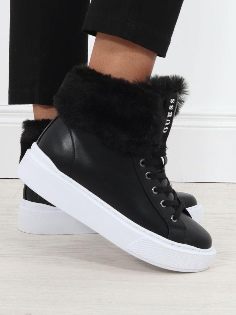 Guess Histori Faux Fur High Top Sneakers