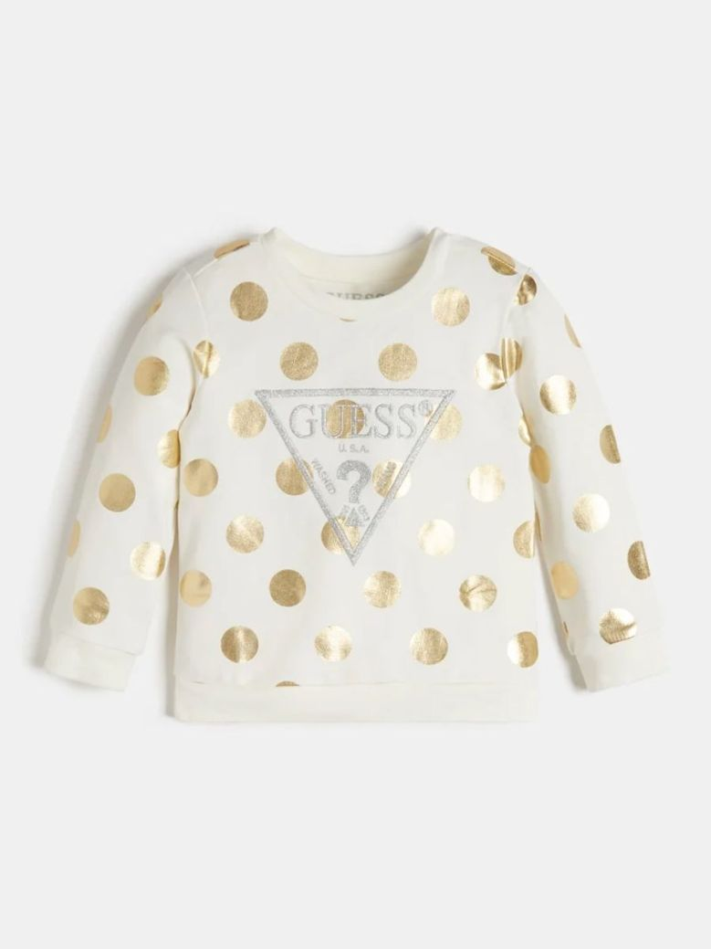 Guess All Over Print Sweater Cream