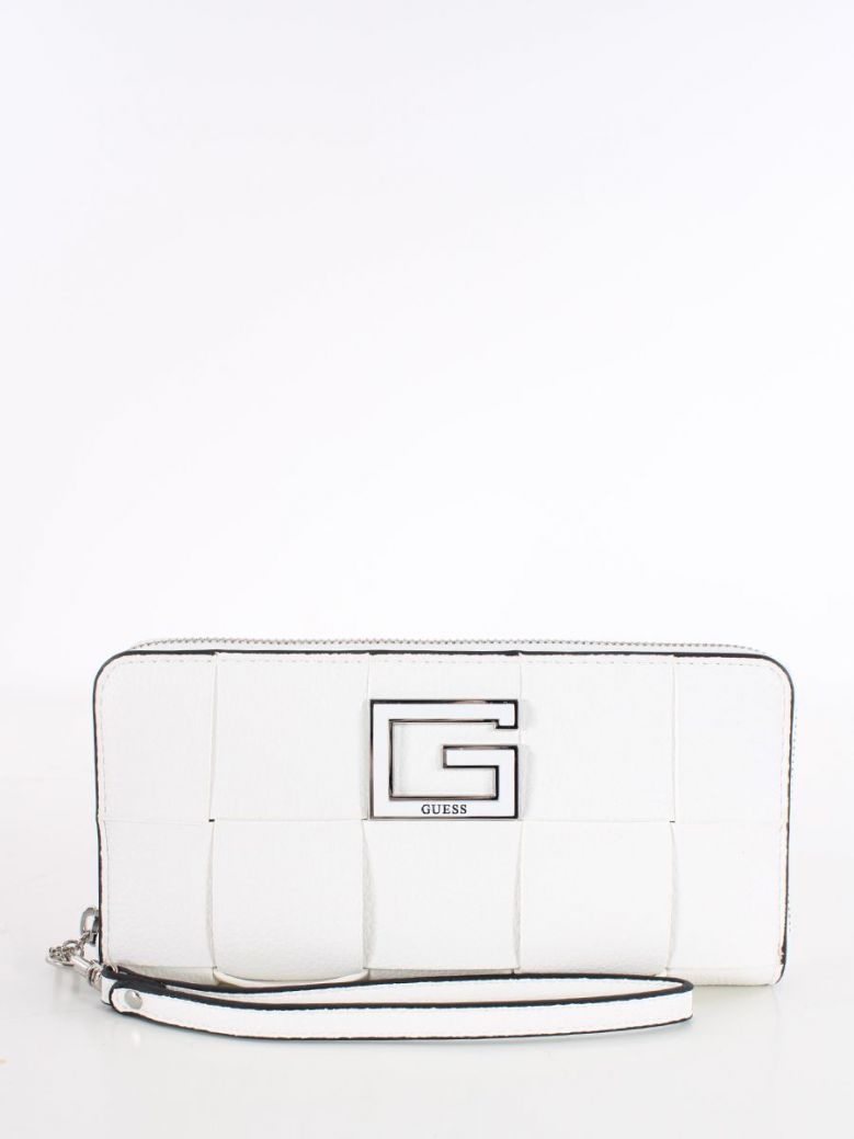 Guess Liberty City Braided Maxi Wallet White