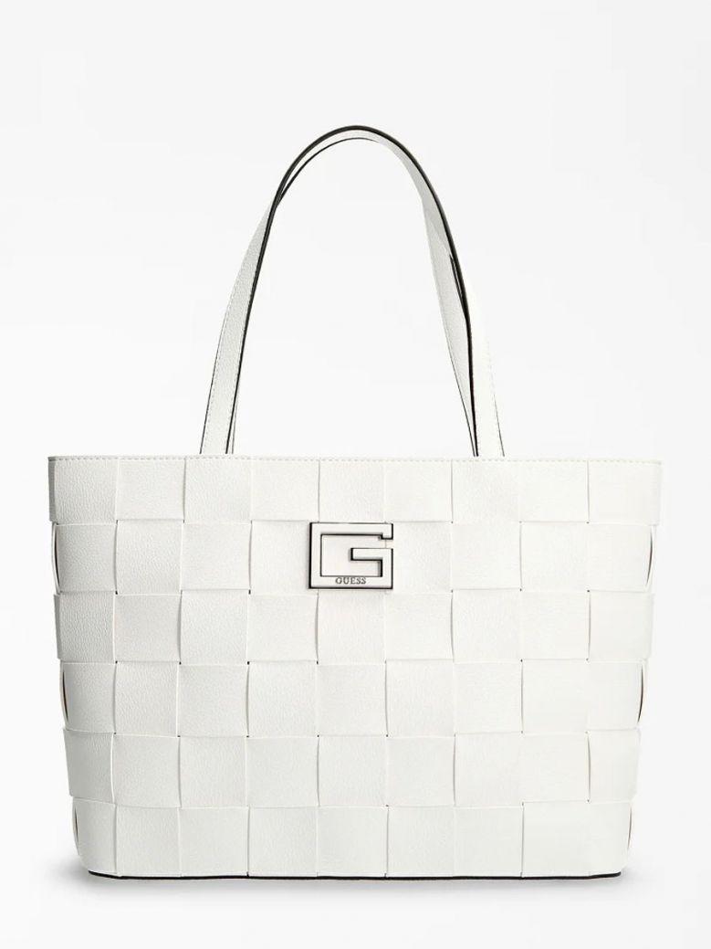Guess Liberty City Braided Shopper White