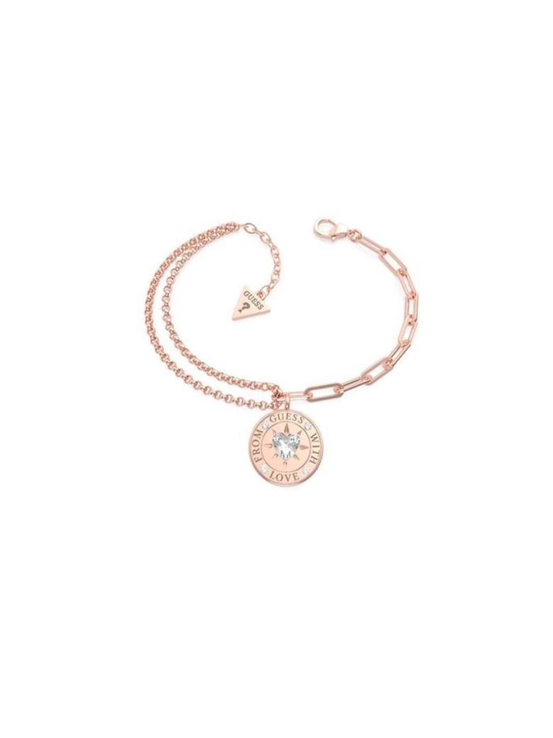 Guess Love Double Chain Rose Gold