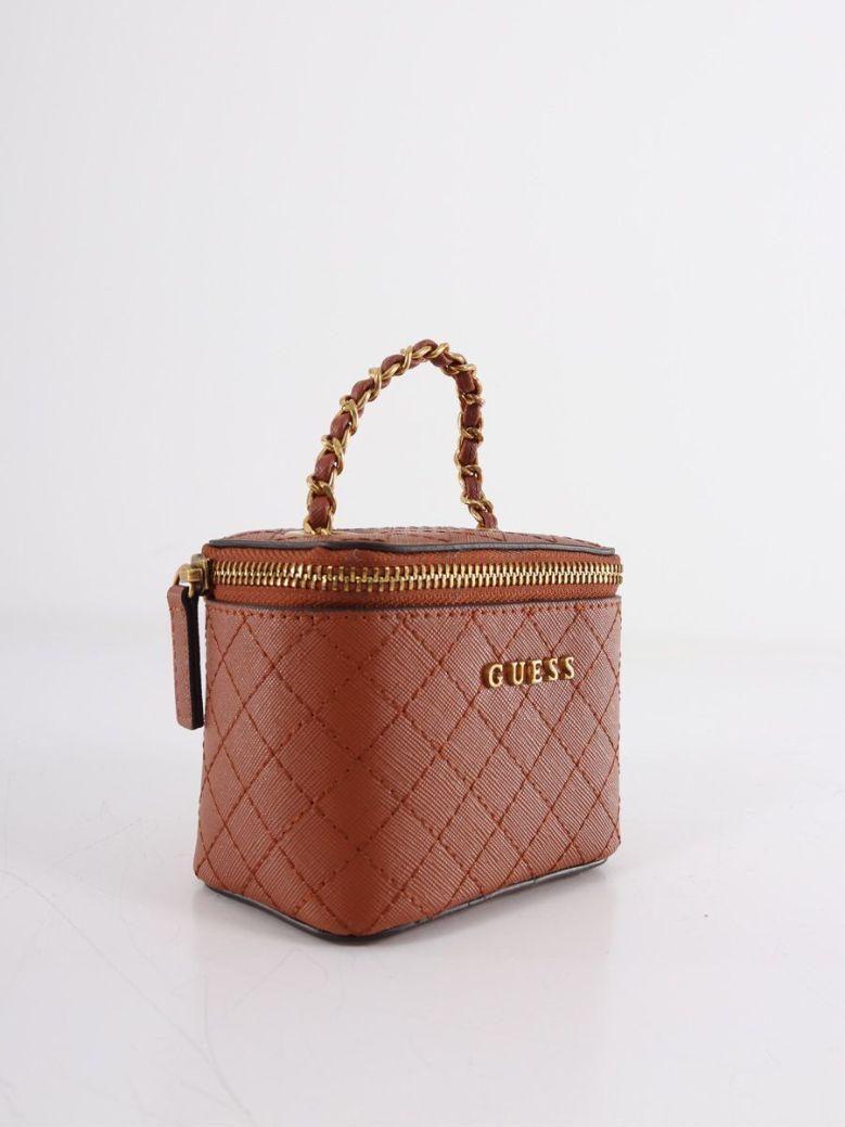 Guess Mini Vanity Bag Brown