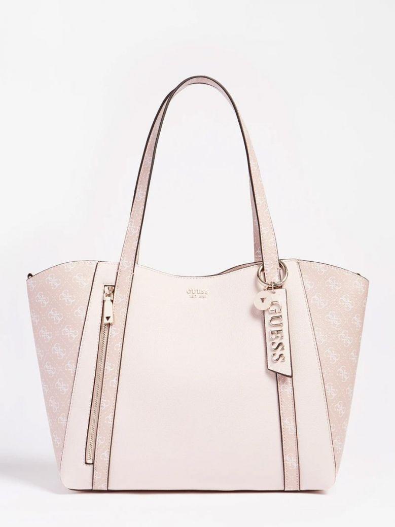 Guess Naya Shopper Logo Pochette Pink Multi