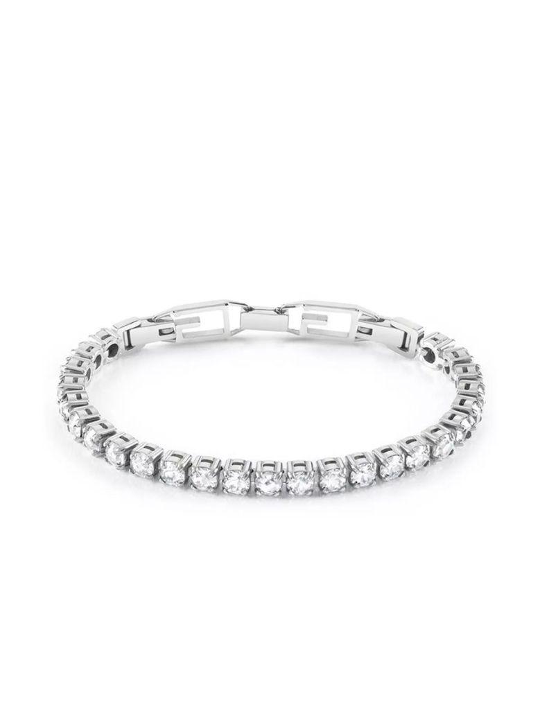 Guess Is For Lovers Triple Heart Charm Bracelet Silver