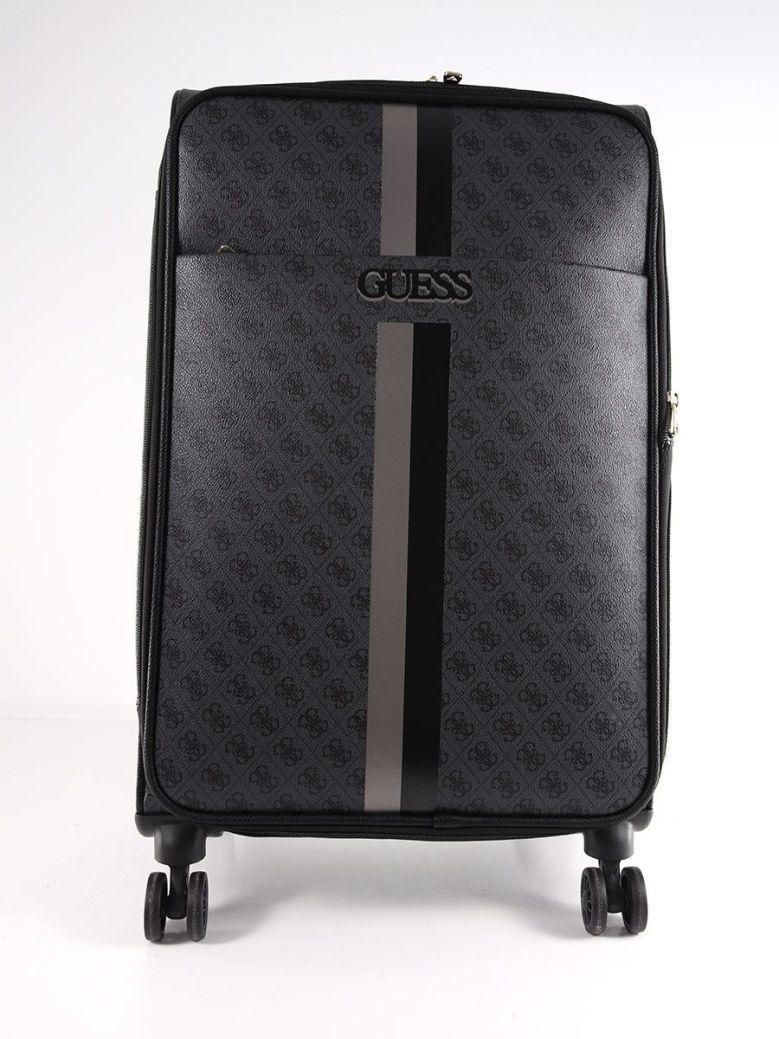 Guess Vikky 4G Peony Print Black Suitcase Black