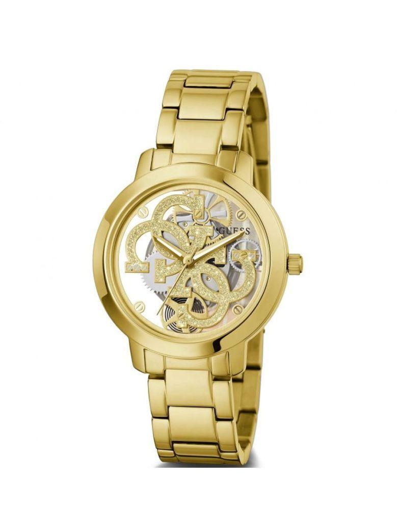 Guess Quattro Clear Ladies Watch GW0300L2 Gold