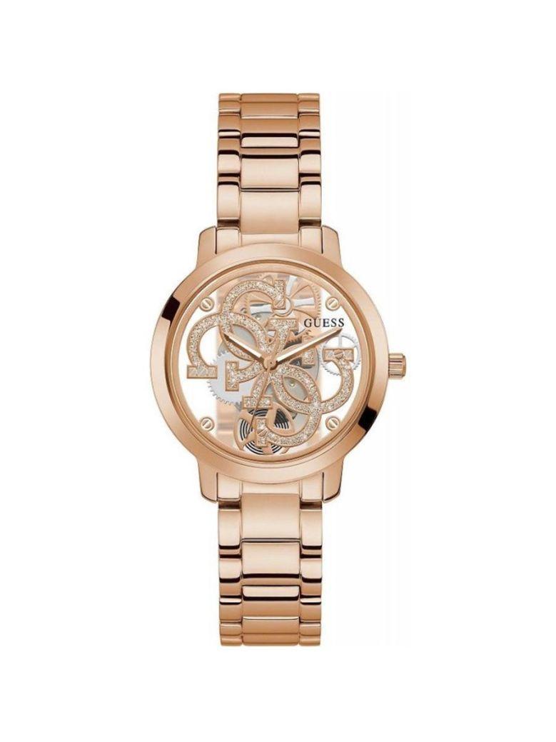 Guess Quattro Clear Ladies Watch GW0300L3 Rose Gold