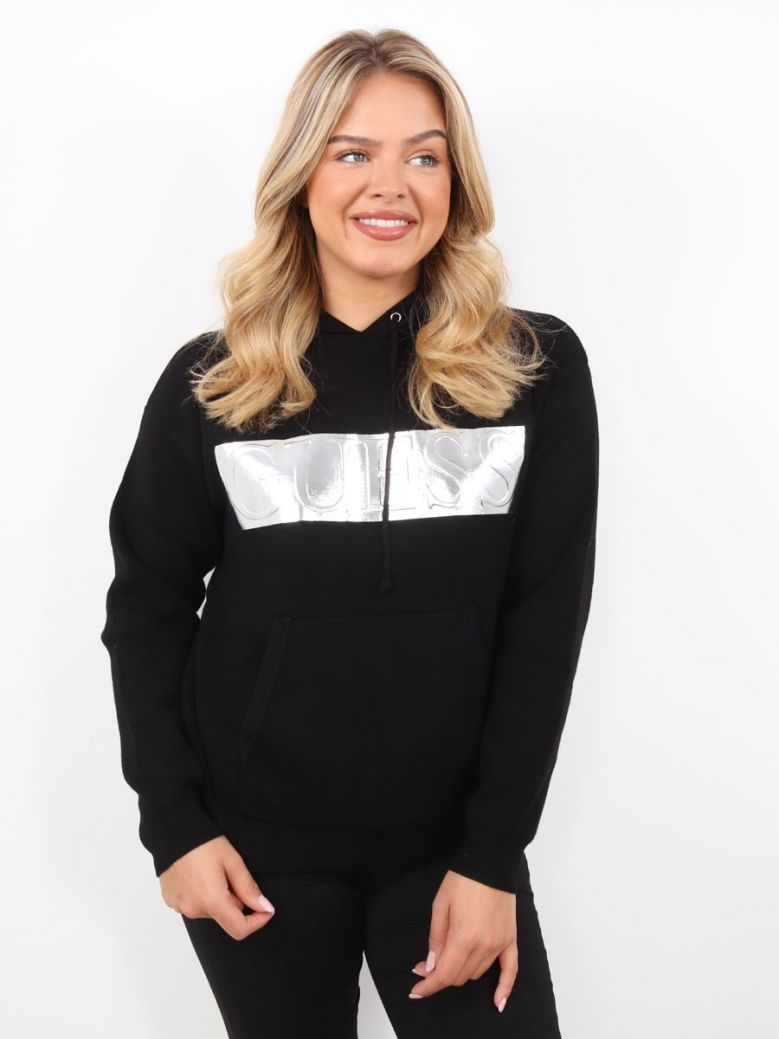 Guess Gemma Hoodie Sweatshirt Black