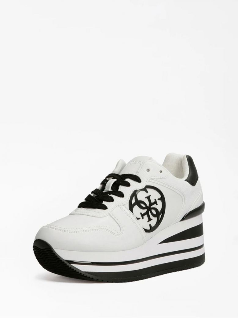 Guess Hektor 4G Logo Sneaker White Multi