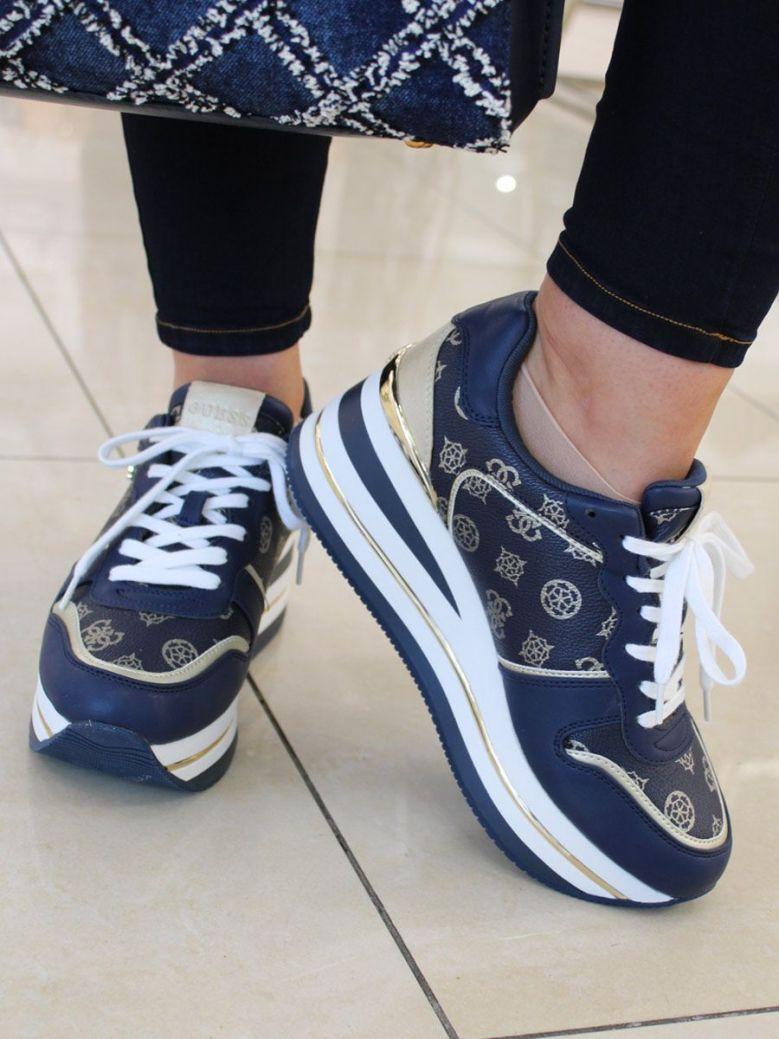 Guess Hektore 4G Peony Logo Running Shoe Blue Multi