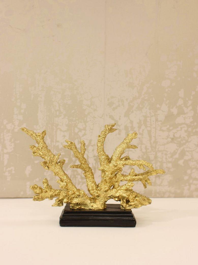 23.5cm Gold Coral Decoration