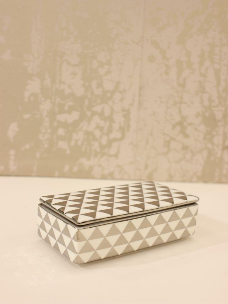 White & Silver Trinket Box