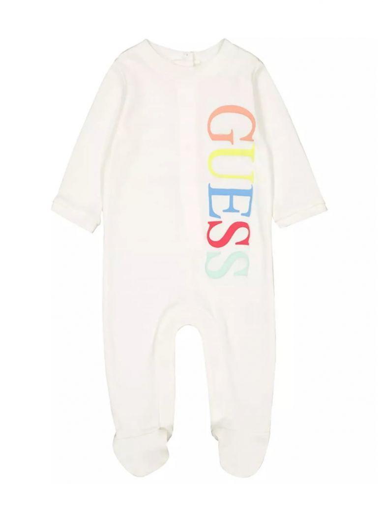 Guess Cream Multi Logo Babygro in Gift Tin