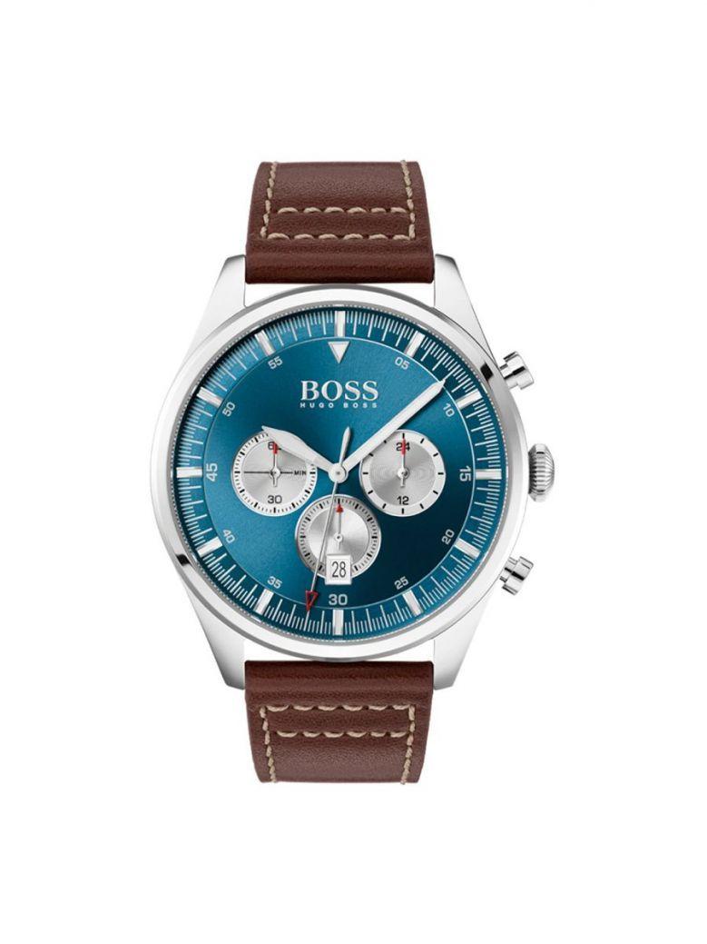 Hugo Boss Pioneer Chronograph Watch Silver