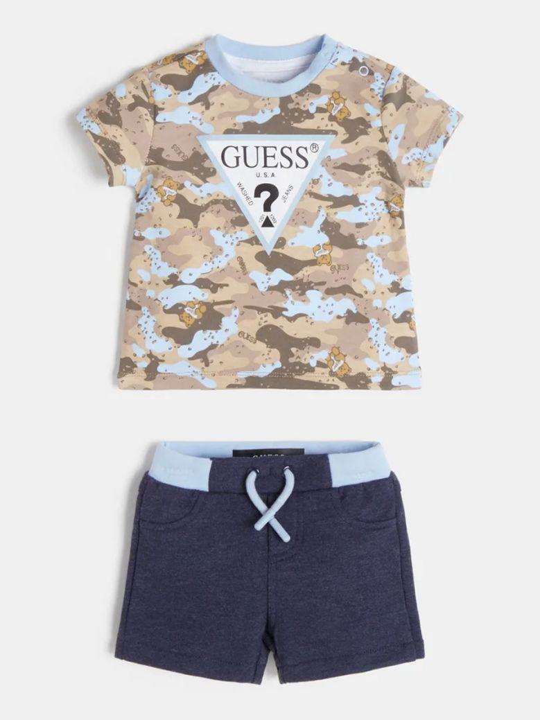 Guess Kids Blue Camo T-Shirt and Pant Set